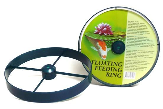 Schwimmender futterring 23 cm f r teichfische im koi for Stor fur gartenteich